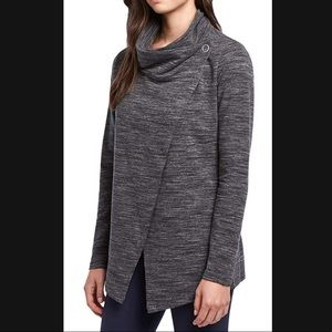 Danskin French Terry Bliss Wrap Cardigan Sweater